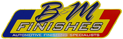 B and M Finishes Logo - Automotive Finish Specialists